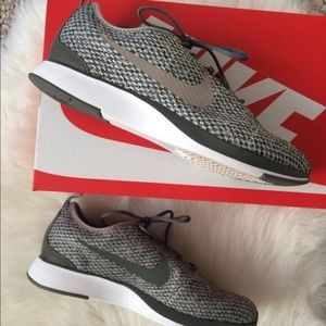 Green gray fabric Dualtone sneakers fits Women 8